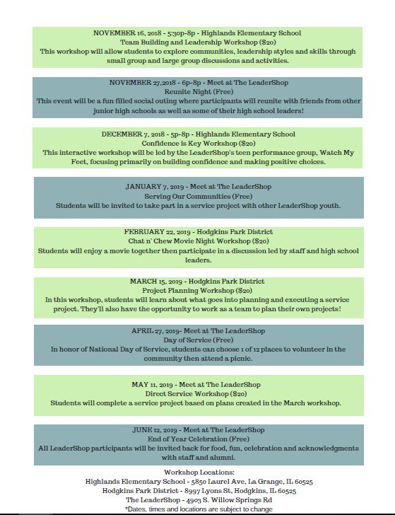 Conferences for Junior High and High School Students | The